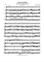 Albinoni T. Concerto B-Dur for Oboe and String orchestra - Score & all Parts