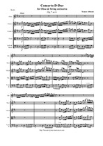 Albinoni T. Concerto D-Dur for Oboe and String orchestra - Score & all Parts