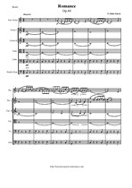 Saint-Saens C. Romance for Violin and String orchestra - Score & parts