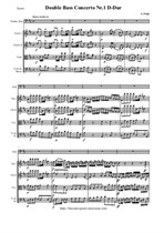 Pichl V. Concerto Nr.1 D-Dur for Double Bass and String orchestra - Score & Parts