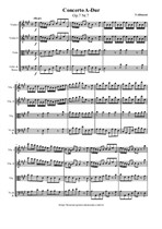 Albinoni T. Concerto for Strings A-Dur - Score & parts