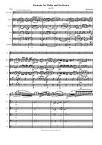 Schumann R. Fantasie for Violin and String Orchestra - Score & Parts